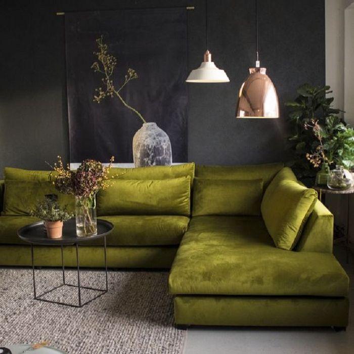 Mẫu Sofa phong cách Retro màu xanh bơ