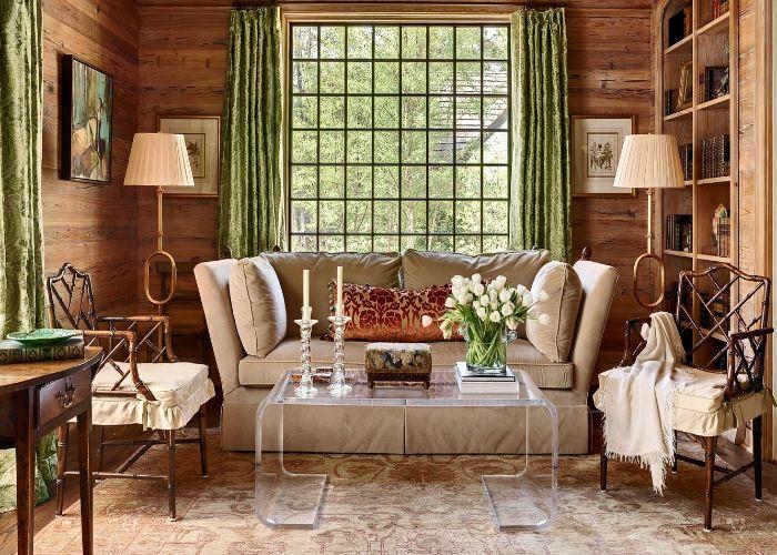 Mẫu Sofa văng phong cách Rustic nhà hàng tiệc cưới