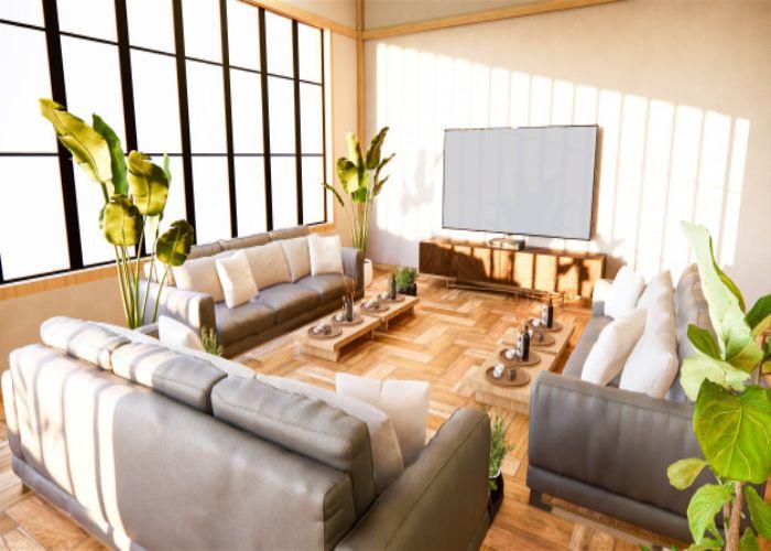 Mẫu Sofa chữ U cho phòng khách rộng