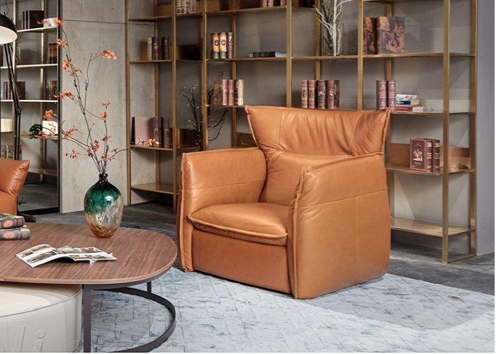 Mẫu sofa đơn phong cách Rustic phòng đọc sách