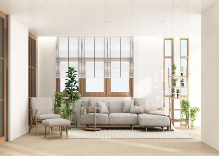Mẫu Sofa L vải nỉ cao cấp phong cách Nhật