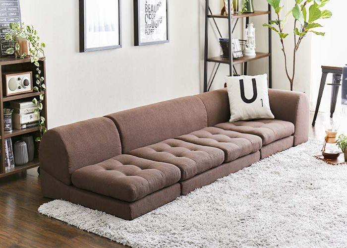 Mẫu Sofa phong cách Nhật vải nỉ không chân