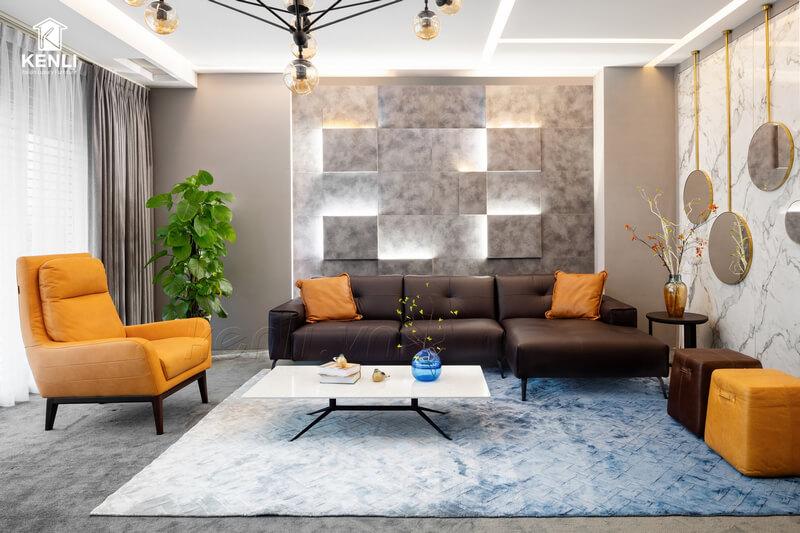 Mẫu Sofa góc đẹp từ M&D