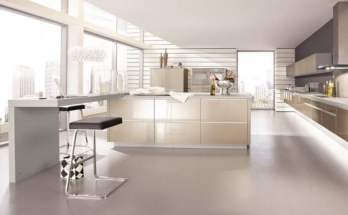 Căn hộ tiết kiệm diện tích giữa phòng khách và phòng bếp