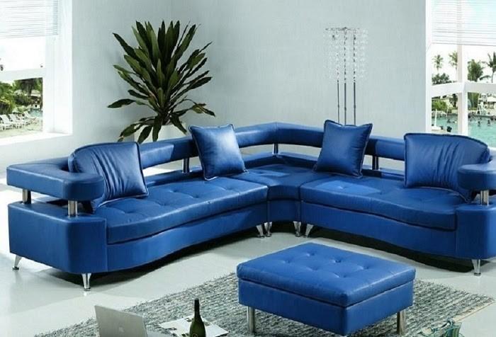 Ghế sofa xanh trang nhã phù hợp với không gian phòng chờ