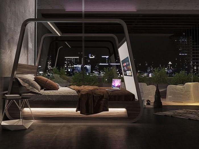 Giường ngủ tích hợp màn hình thông minh công nghệ cao