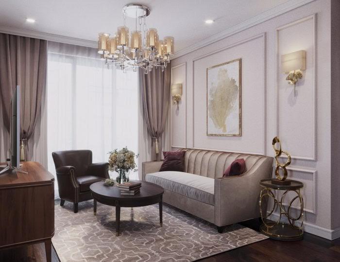 Không gian cổ điển thêm điểm nhấn với bộ sofa da
