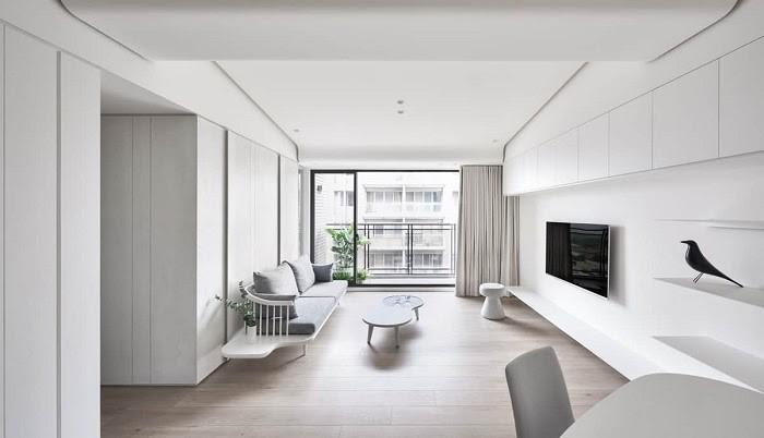Không gian rộng rãi với ít nội thất rườm rà