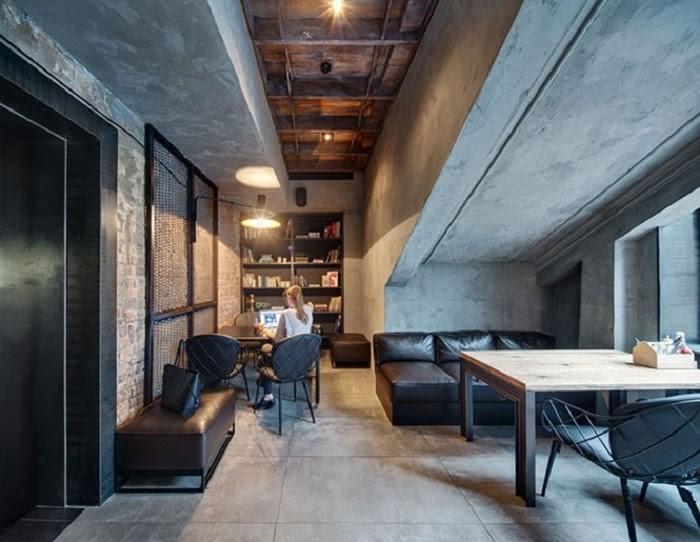 Không gian thiết kế Rustic đơn giản, màu sắc hài hòa