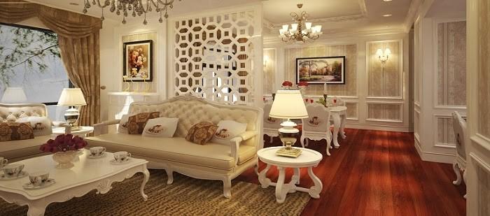 Phong cách cổ điển tông màu trắng, tinh tế, sang chảnh