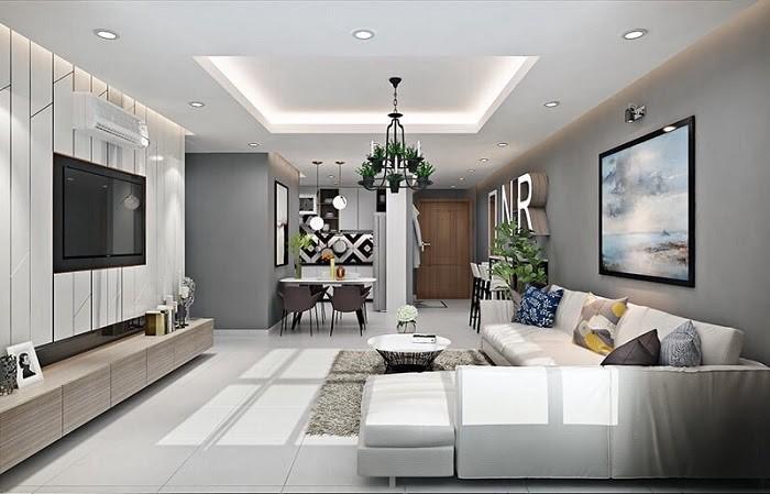 Phòng khách đơn giản nhưng ấn tượng