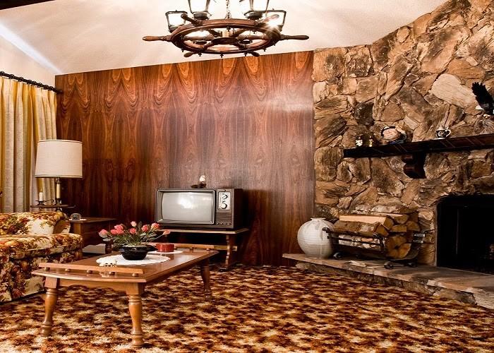 Phòng khách phong cách Retro ngập tràn màu đất ấm áp