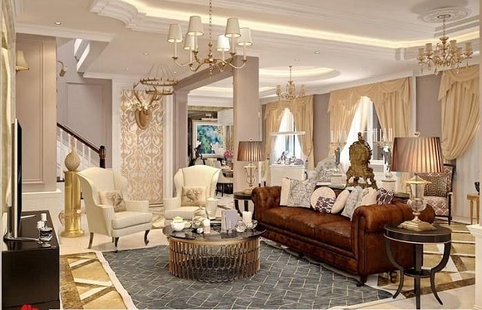 Phòng khách phong cách cổ điển, lạ mắt, thu hút ánh nhìn
