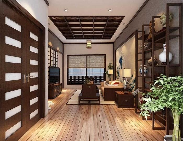 Sàn gỗ hay đồ dùng bằng gỗ là nguyên liệu không thể thiếu trong nội thất Nhật Bản