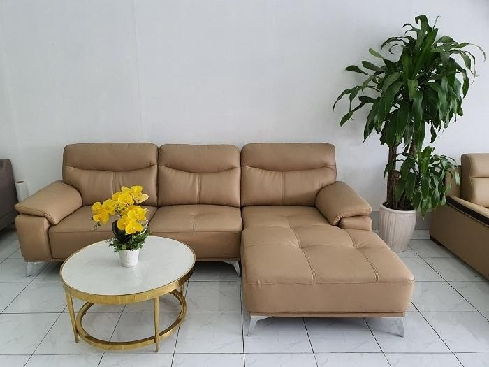 Sofa vàng kem chữ L phù hợp với mọi không gian nội thất