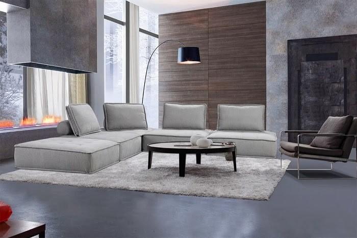 Mẫu Sofa xám nhạt mang phong cách đương đại