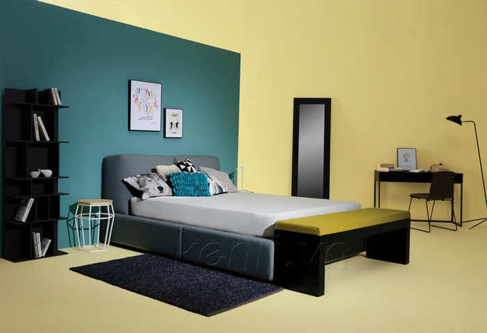 Một chiếc giường đẹp của nội thất Kenli