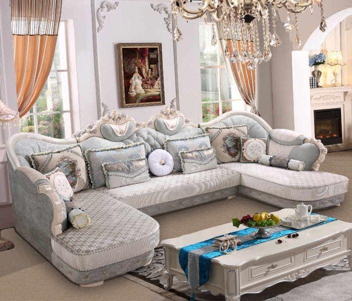 Bộ Sofa U phong cách cổ điển vải nỉ