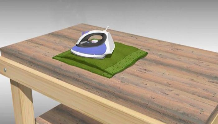 Cách xử lý đối với mặt bàn gỗ bị cong