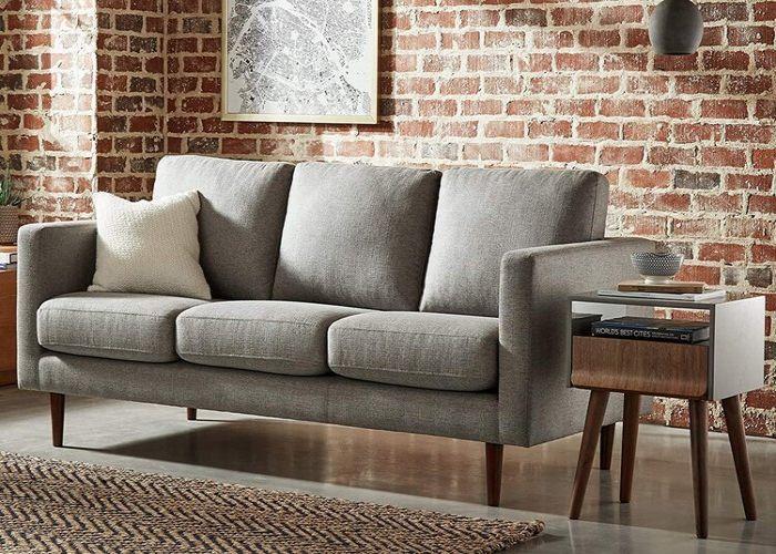 Mẫu Sofa ba phong cách Eco màu xám trung tính