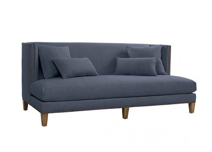 Mẫu Sofa băng dài phong cách Eco màu ghi
