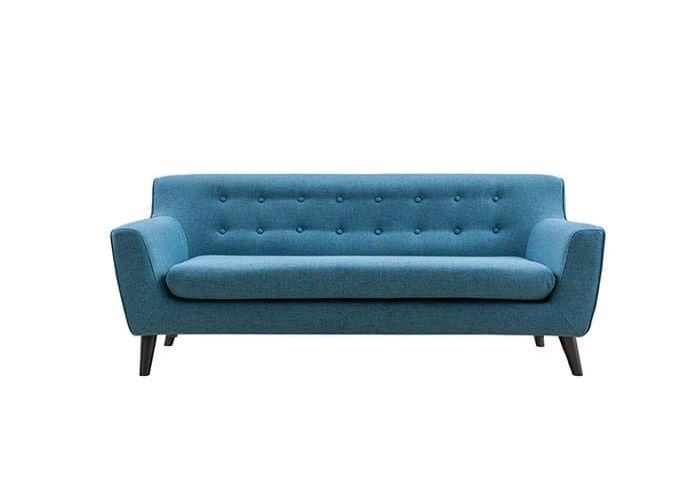 Mẫu Sofa băng dài phong cách Eco màu xanh