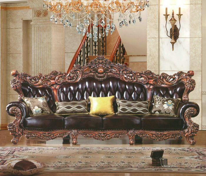 Mẫu Sofa phong cách cổ điển màu đen
