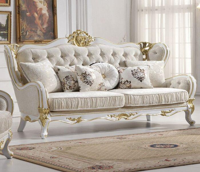 Mẫu Sofa phong cách cổ điển màu xám nhẹ