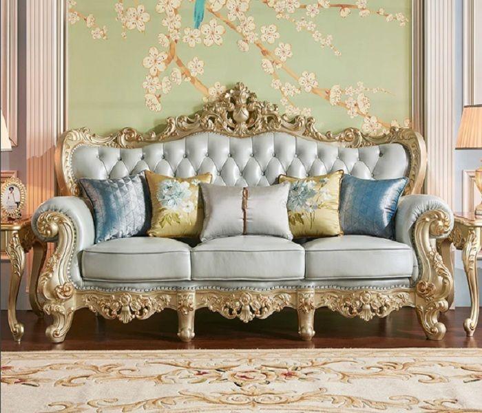 Mẫu Sofa phong cách cổ điển màu xanh pastel