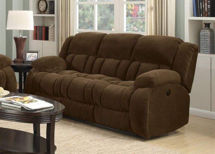 Mẫu Sofa văng nệm truyền thống màu nâu