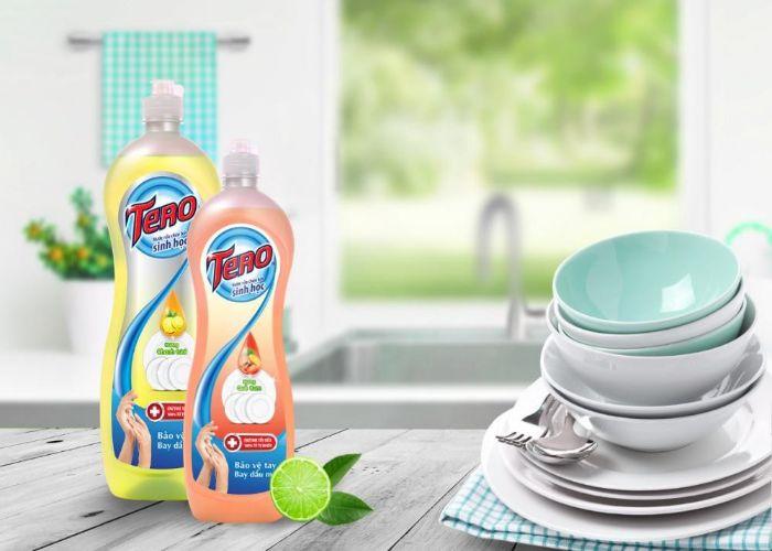 Nước rửa chén - Dung dịch vệ sinh vết dầu mỡ quen thuộc