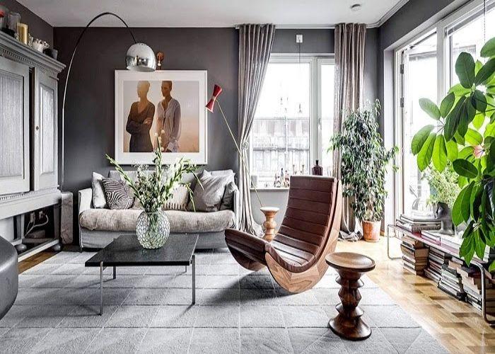 Phòng khách nội thất Bắc Âu Scandinavian sang trọng