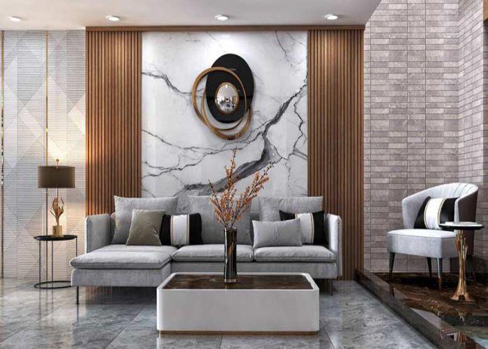Phòng khách phong cách hiện đại hướng đến sự đơn giản