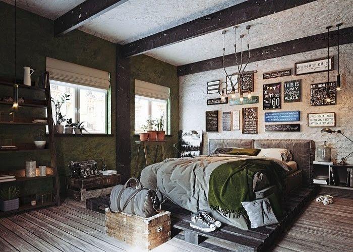 Phòng ngủ nội thất Vintage đầy hoài cổ và tràn ngập kỷ niệm