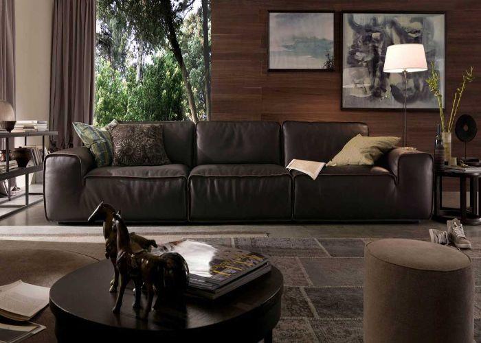 Sofa ba màu đen
