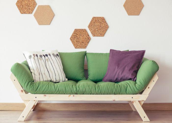 Sofa phong cách Organic đế gỗ