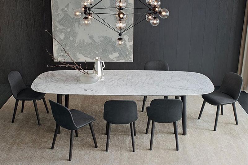 9 mẫu bàn ăn mặt đá
