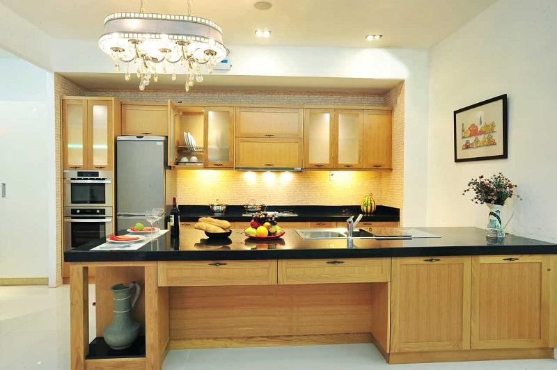 Không gian nhà bếp phải luôn thoáng đáng, sạch sẽ, tươm tất