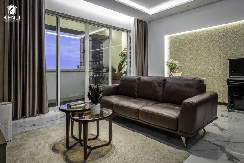 Sofa da Gemma tại nhà khách
