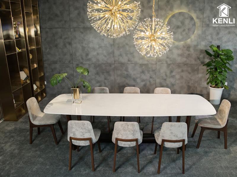mẫu bàn ăn đẹp 10 ghế Concorde