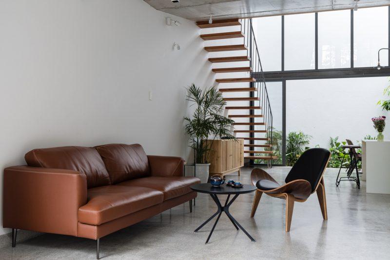 Phòng khách của ngôi nhà 'ruộng bậc thang'