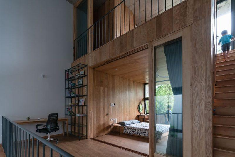 phòng ngủ của nhà bậc thang