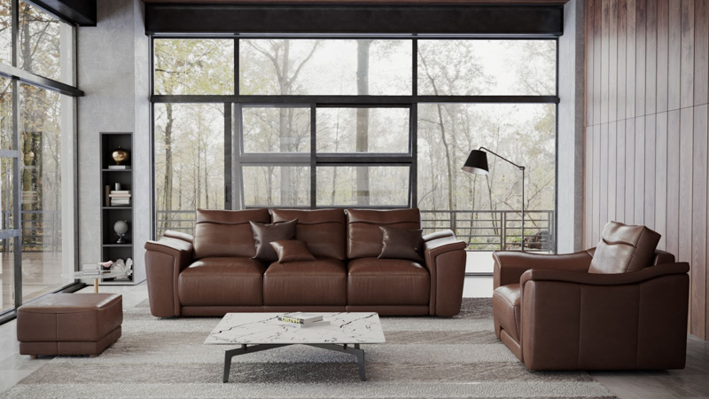 sofa da thật agay