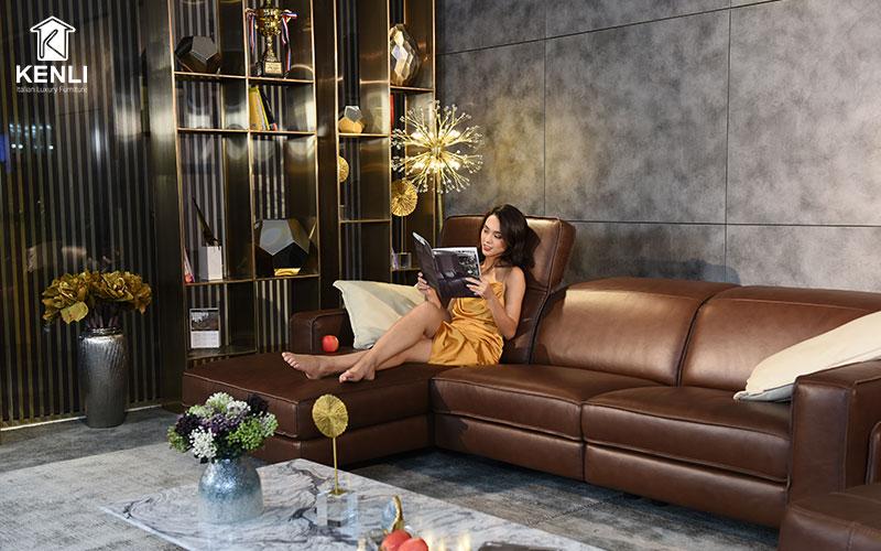 Thiết kế sofa chữ L chắc chắn, sang trọng